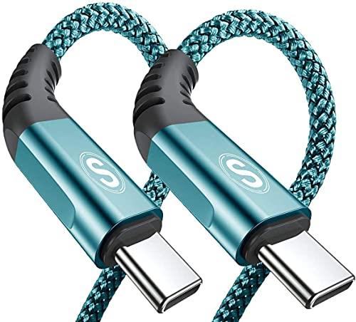 USB C Kabel 3.1A [2Stück 2m] Schnellladung, Ladekabel USB C Nylon Type C Kabel für Samsung Galaxy S21 S20 S10 S9 S8 Plus,Note10/9/8,M31 M30s M20,A20e A71 A52 A51 A50 A40 A10 A7,Mi9/8,V30/20