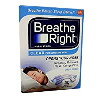 BREATHE RIGHT NASAL STRIPS,CLEAR,LARGE, 30 CT by Breathe Right