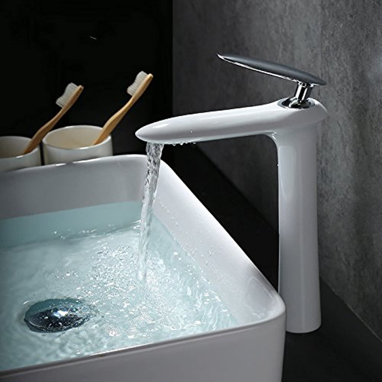 Hlluya Professional Sink Mixer Tap Kitchen Faucet Basin taps full copper hot and cold white plus high