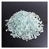 Piedra de Cristal 100G Natural Azul Aquamarine Chips Crudo Triturado Piedra Semi-preciosas Gemas Curación de Espécimen Minerales Decoración de cristal Aquarium ( Color : Aquamarine , Size : 200g )