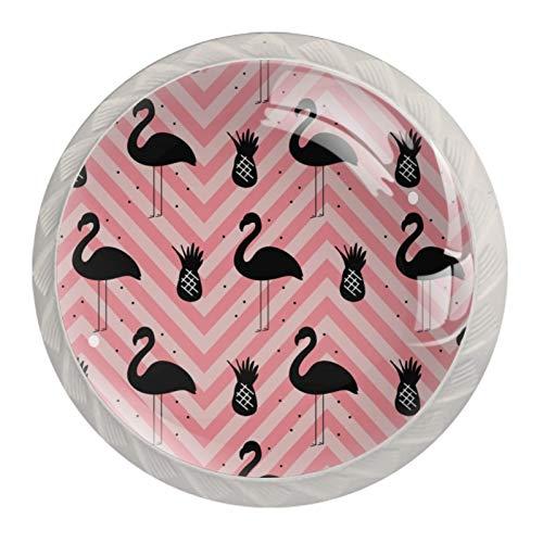 Tiradores redondos para cajones de cocina, diseño de rayas, color rosa y rosa