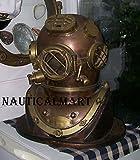 NauticalMart Morse US Navy Mark V Diving Divers Helmet Antique Full Size 18'' Diver's Collection