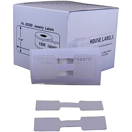 Barbell Style 2-up For DYMO LabelWriter 30299 4 Rolls of 1500 Price Tag Labels
