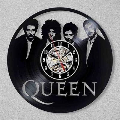 Vintage vinyl record wall clock queen rock band 3d music theme decoration wall clock art wall clock home decoration