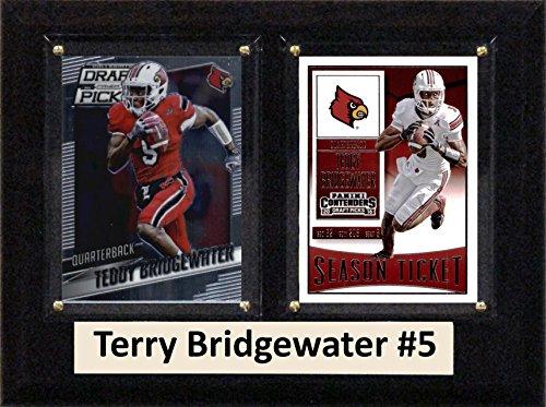 C & I Collectables NCAA Louisville Cardinals Herren Teddy Bridgewater Zwei Karte Plaque, braun, 15,2x 20,3cm