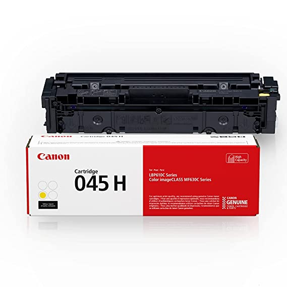 Canon Genuine Toner, Cartridge 045 Yellow, High Capacity (1243C001), 1 Pack, for Canon Color imageCLASS MF634Cdw, MF632Cdw, LBP612Cdw Laser Printers