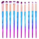 Eye Shadow Brush Set Unicorn 10Pcs Eye Makeup Brushes for Shading or Blending of Eyeshadow Cream Powder Eyebrow Highlighter Concealer Cosmetics Brush Tool