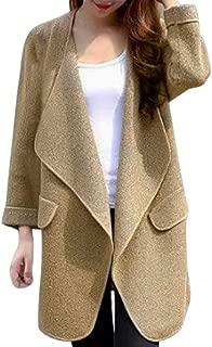 CLOOM Donne Cappotto con Cardigan Aperto sul Colletto Anteriore rovesciato Solido Casual Cardigan Donna Invernale Elegante Maglione Donna Invernale Eleganti Tumblr Giacca
