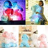 Bureze LED muñeca de perro cosas juguete luz nocturna peluche resplandor almohada suave luz hasta...