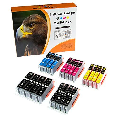ESMOnline 20 XL Tintenpatronen kompatibel mit Canon Pixma MG 5700 5750 5751 6800 6850 6851 7700 7750 7751 TS 5050, als Ersatz für PGI-570XL / CLI-571XL