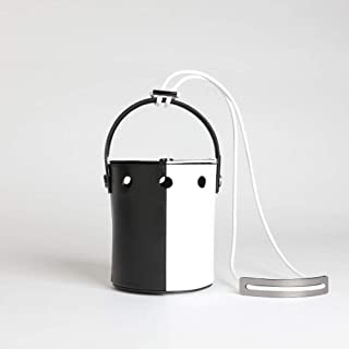 Handbags Women's Durable Vintage Leather Tote Bag Shoulder Bag Personality Portable Bucket Style Round Hole Handbag with Strap Everyday Weekend Leisure Bag