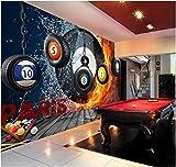 Papel Pintado Pared Moderno Fotomurales Sala De Billar Billar Paris 400X280Cm Fotomural Para Paredes Mural Vinilo Decorativo Decoración Comedores, Salones,Habitaciones