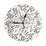 掛け時計 壁掛け時計 シバプルームホワイト インテリア 連続秒針 静音 北欧 部屋/オフィス/実家用 祝い プレゼント デュアルユース