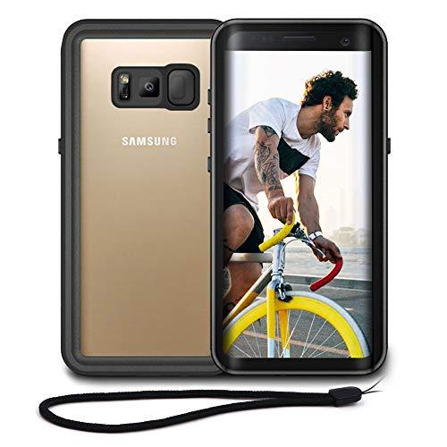 Beeasy Samsung Galaxy S8 Plus Hülle,Wasserdicht Stoßfest Outdoor Handy Hülle S8+ Militärstandard Schutzhülle mit Bildschirmschutz Robust Metall Schutz vor Stürzen Stößen Heavy Duty Handyhülle,Schwarz
