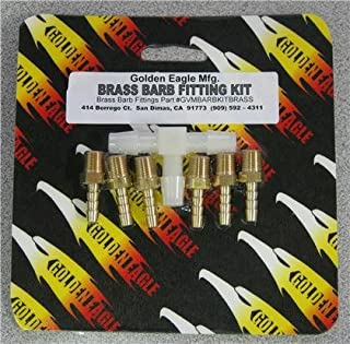 Golden Eagle Vacuum Manifold - BARB KIT BRASS Fittings - GVMBARBKITBRASS