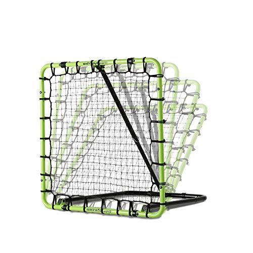EXIT Fußball Rebounder Tempo - Grün/Schwarz - Fußball Trainingszubehör - Verstellbar in 7 Stufen (100 x 100 cm)