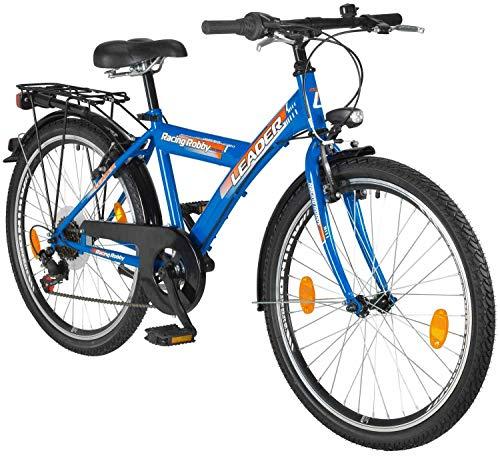tretwerk DIREKT gute Räder Racing Robby 24 Zoll Jugend-Fahrrad mit 6-Gang Kettenschaltung und Gepäckträger