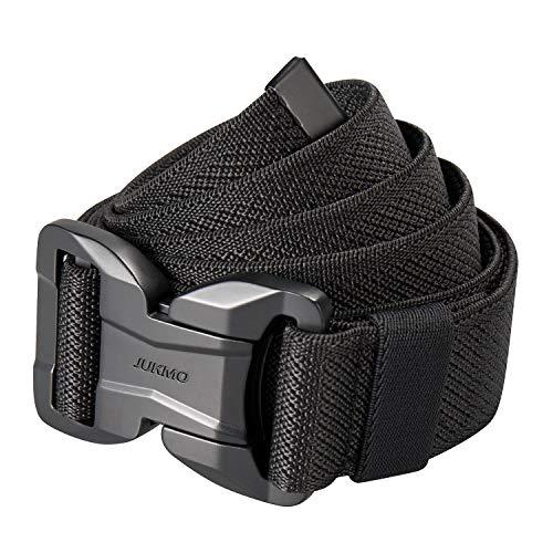 "JUKMO Magnetic Tactical Belt, Military Gun Rigger 1.5"" Nylon Web Work Belt with Heavy Duty Quick Release Buckle (Black, Medium-for Waist 36""-42"" (Length 49""))"