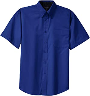 Joe`s USA Men`s Short Sleeve Wrinkle Resistant Easy Care Shirts in 32 Colors. Sizes XS-6XL
