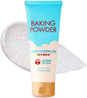 ETUDE HOUSE Baking Powder B.B Deep Cleansing Foam - Perfect Cleansing and Peeling, Removes Pore Waste and Dead Skin Cells,...