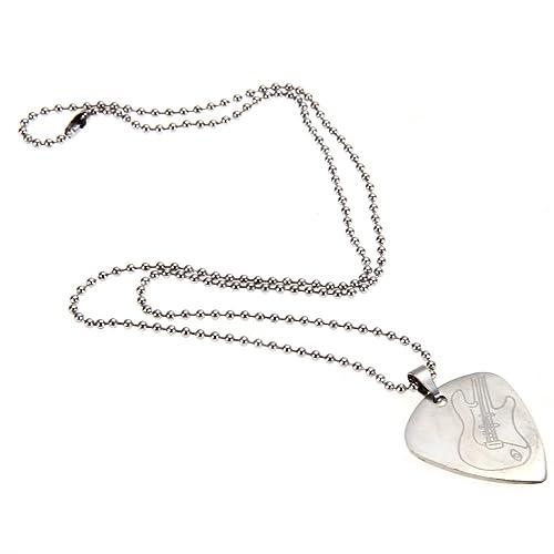 Plektrum Halskette für E-Gitarre Bass Metall Plektren Anhängerkette Necklace TOP