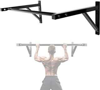 IRONWALLS Pull Up Bar Wall Mounted Home Gym, 500lbs Capacity Heavy Duty Iron Chin Up Bar Upper Body Workout Bar for Streng...