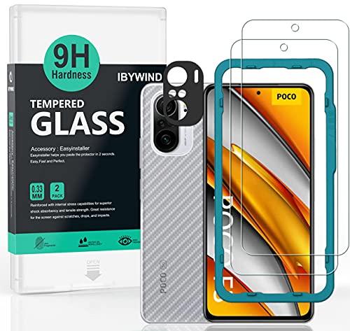Ibywind Cristal Templado para POCO F3 5G/Redmi K40/Redmi K40 Pro, [2 Piezas],con...