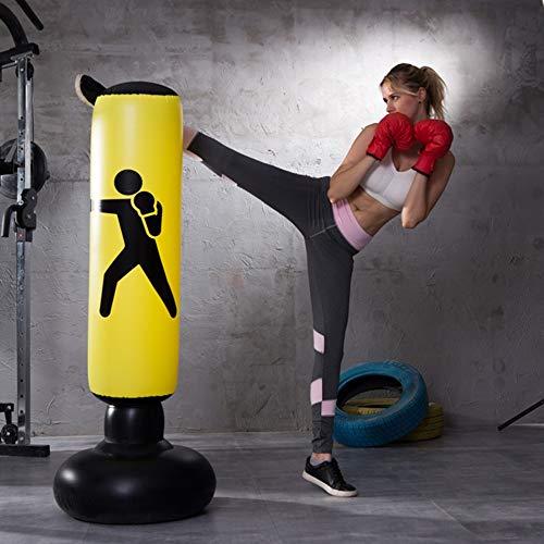 SCF Standboxsack,Standboxsack Aufblasbare Boxsäule Tumbler Kinder/Erwachsene Fitness Dekompression Sandsäcke Kick Kampftraining,Freistehender Boxsack Trainer Punching Ball Sandsack