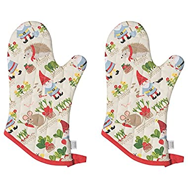 Now Designs Basic Oven Mitt, Set of Two, Gnome Sweet Gnome