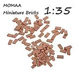 MOMAA 1/35 Miniatur-Ziegel, Mini-Ziegelsteine, Modell DIY Puppenhaus, Ziegel, Diorama, Feengarten,...