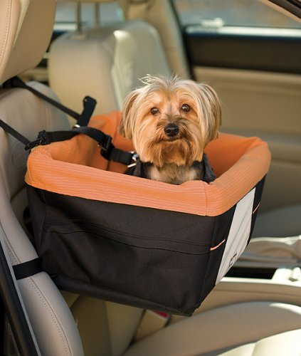 Kurgo Skybox Dog Booster Seat for Cars and Dog Car Seat with Dog Seat Belt Tether