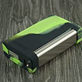 Silicone Case for Smok XCube II 2 160w TC Sleeve Skin Wrap Cover (Green/Black)