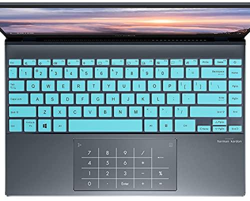 Tastaturabdeckung für ASUS ZenBook 13 UX325EA UX325JA, ASUS ZenBook Flip 13 UX363EA UX363JA, ASUS ZenBook Flip S UX371 2-in-1 Laptop-Tastaturabdeckung, Mintgrün