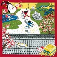 【三毛猫みけのゆめ日記】綿小風呂敷(50cm)・みけの節分(2月)