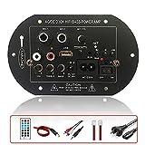 Placa Amplificadora Bluetooth 5.0, Placa Amplificadora Receptor de Audio Estéreo de Alta Fidelidad, Soporte MP3 WMA Audio TF/SD Radio FM Radio, 220V / 12V / 24V USB Amplificador de Audio Amplificador