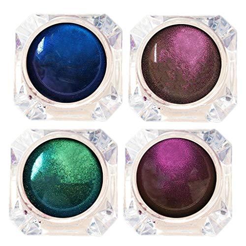 Chamäleon Lidschatten Multi-Chrome Shade Shifting Pigments, for Lidschatten Hervorheben Lippenstift Nagellack, Glitzer Puder Karneval Verkleidung Make up Makeup