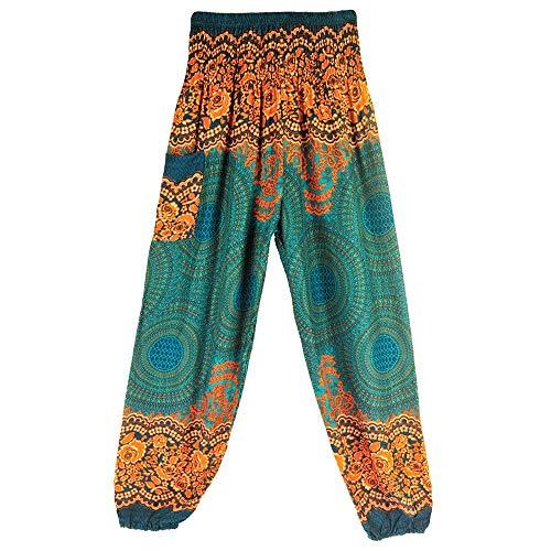 JERFER Jolis Pantalons de Mode Sarouel Femme Pantalon de Yoga Taille Haute Hock Hippy Smock de Boho