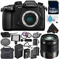 Panasonic Lumix DC-GH5 Mirrorless Micro Four Thirds Digital Camera (Body Only) + Panasonic Lumix G Vario 14-140mm f/3.5-5.6 ASPH + 128GB Class 10 Memory Card Bundle
