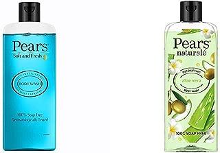 Pears Soft and Fresh Shower Gel, 250ml & Pears Naturale Detoxifying Aloevera Bodywash, 250 ml