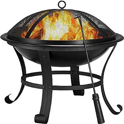 Yaheetech Fire Pit, 3 in 1 Iron Fire Bowl Patio Heater for Bonfire Camping/BBQ 54.00 x 49.50cm (Dia. x H) by Yaheetech