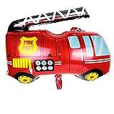 NWQEWDG Dessin animé Aluminium Ballon Voiture Scolaire Camion de Pompiers fête d'anniversaire décor (Camion de Pompier)