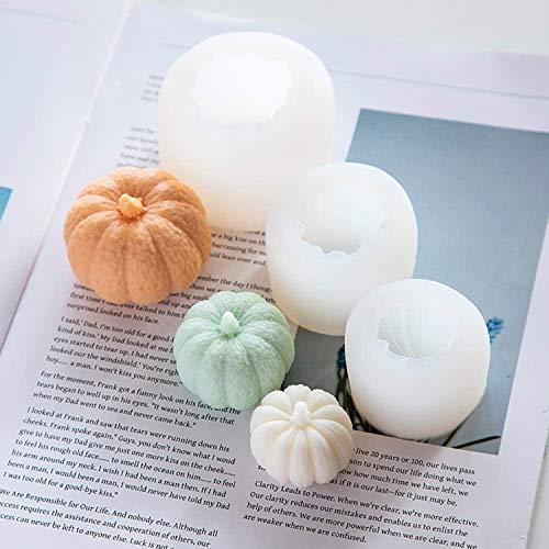 3 piezas de Halloween forma de calabaza molde de silicona 3D jabón...