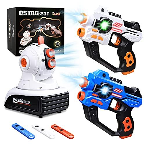LUKAT Lasertag Spielzeug für Jungen & Mädchen, Infrarot Laserpistole Spiel mit Projektor, Multifunktion Laser Tag Spiel Set für Kinder & Erwachsene, Spaß Geschenke für 4 5 6 7 8 9 10 11 12+ Jahre