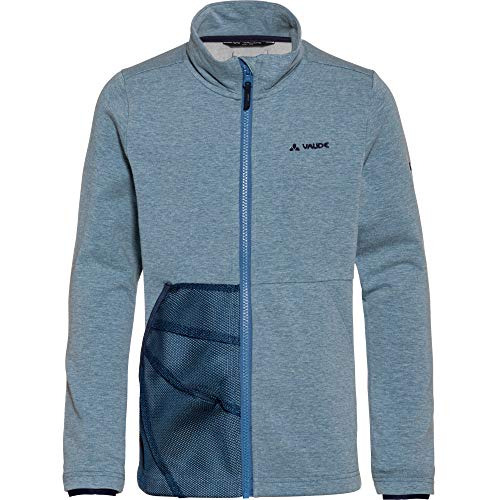 VAUDE Kinder Faunus Fleecejacke Fleecejacket, Blue Gray, 122/128