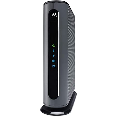 Motorola MB8611 DOCSIS 3.1 Cable Modem, 6 Gbps Max Speed. Approved for Comcast Xfinity Gigabit, Cox Gigablast, Spectrum, and More, Black (2.5 Gbps Ethernet Port)