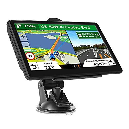 Bebliss Navegador de coche de 7 pulgadas Camión Navegación GPS Navegación por satélite Mapa Libre Pantalla Táctil 800X480 píxeles 8GB