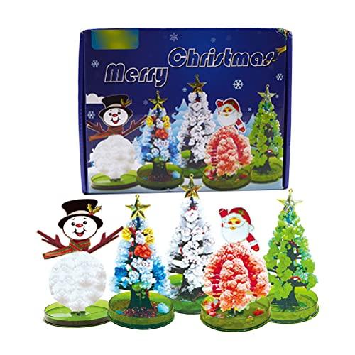 BTSEURY Árbol de Navidad de crecimiento mágico, novedad DIY Magic Christmas Tree Paper Tree Blossom Science Juguetes educativos para niños