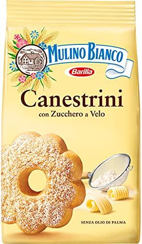 Mulino Bianco Dolcetti Canestrini, Biscotti Frollini con Zucchero a Velo, Burro e Uova Fresche, 200 g