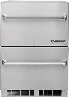 Twin Eagles Outdoor Two Door Refrigerator (TERD242-F), 24-Inch