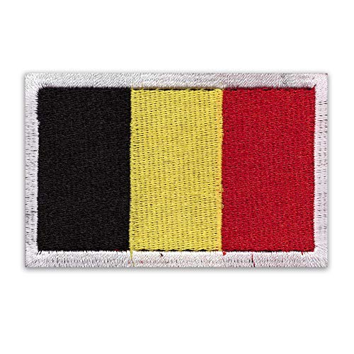 Onuris Länder Patches Aufnäher International Country Badge mit Klett hochwertig genäht (Belgien)